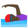 Woman Swimming: Dark Skin Tone on EmojiOne 4.0