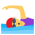 Woman Swimming on EmojiOne 4.0