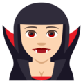 Woman Vampire: Light Skin Tone on EmojiOne 4.0