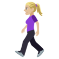 Woman Walking: Medium-Light Skin Tone on EmojiOne 4.0