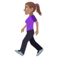 Woman Walking: Medium Skin Tone on EmojiOne 4.0