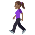 Woman Walking: Medium-Dark Skin Tone on EmojiOne 4.0