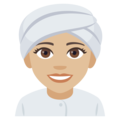 Woman Wearing Turban: Medium-Light Skin Tone on EmojiOne 4.0