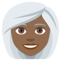 Woman: Medium-Dark Skin Tone, White Hair on EmojiOne 4.0