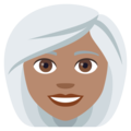 Woman, White Haired: Medium Skin Tone on EmojiOne 4.0