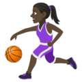 Woman Bouncing Ball: Dark Skin Tone on EmojiOne 4.0