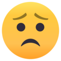 Worried Face on EmojiOne 4.0