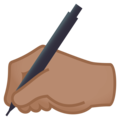 Writing Hand: Medium Skin Tone on EmojiOne 4.0