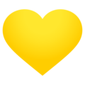 Yellow Heart on EmojiOne 4.0