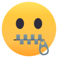 Zipper-Mouth Face on EmojiOne 4.0
