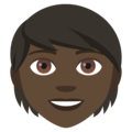 Person: Dark Skin Tone on EmojiOne 4.5