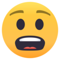 Anguished Face on EmojiOne 4.5