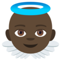 Baby Angel: Dark Skin Tone on EmojiOne 4.5