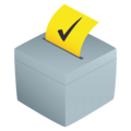 Ballot Box With Ballot on JoyPixels 4.5