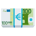 Euro Banknote on JoyPixels 4.5