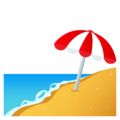 Beach With Umbrella on EmojiOne 4.5