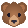 Bear Face on EmojiOne 4.5