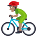 Person Biking: Medium Skin Tone on EmojiOne 4.5