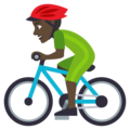 Person Biking: Dark Skin Tone on EmojiOne 4.5