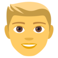 Man: Blond Hair on JoyPixels 4.5