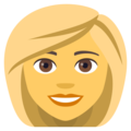 Woman: Blond Hair on EmojiOne 4.5