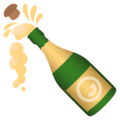 Bottle With Popping Cork on EmojiOne 4.5