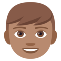 Boy: Medium Skin Tone on EmojiOne 4.5