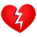 Broken Heart on EmojiOne 4.5