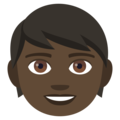 Child: Dark Skin Tone on EmojiOne 4.5