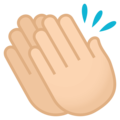 Clapping Hands: Light Skin Tone on EmojiOne 4.5