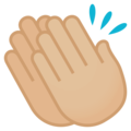 Clapping Hands: Medium-Light Skin Tone on EmojiOne 4.5