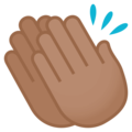 Clapping Hands: Medium Skin Tone on JoyPixels 4.5