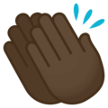 Clapping Hands: Dark Skin Tone on JoyPixels 4.5