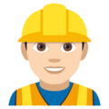 Construction Worker: Light Skin Tone on JoyPixels 4.5