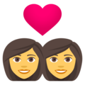 Couple With Heart: Woman, Woman on EmojiOne 4.5