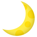 Crescent Moon on EmojiOne 4.5