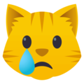 Crying Cat Face on EmojiOne 4.5
