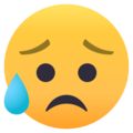 Sad but Relieved Face on EmojiOne 4.5