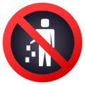 No Littering on JoyPixels 4.5