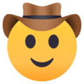 Cowboy Hat Face on JoyPixels 4.5