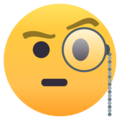 Face With Monocle on EmojiOne 4.5
