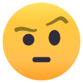 Face With Raised Eyebrow on EmojiOne 4.5