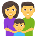 Family: Man, Woman, Boy on EmojiOne 4.5