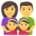 Family: Man, Woman, Girl, Girl on EmojiOne 4.5