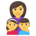 Family: Woman, Girl, Boy on EmojiOne 4.5