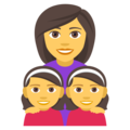 Family: Woman, Girl, Girl on JoyPixels 4.5