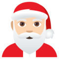 Santa Claus: Light Skin Tone on EmojiOne 4.5