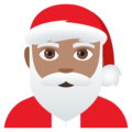 Santa Claus: Medium Skin Tone on JoyPixels 4.5