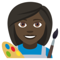 Woman Artist: Dark Skin Tone on EmojiOne 4.5