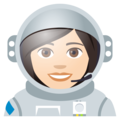 Woman Astronaut: Light Skin Tone on JoyPixels 4.5